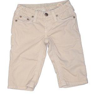 Stitch's Khaki Denim Bermuda Shorts Ivory Size 29